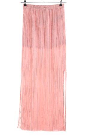 Amisu Falda larga rosa look casual