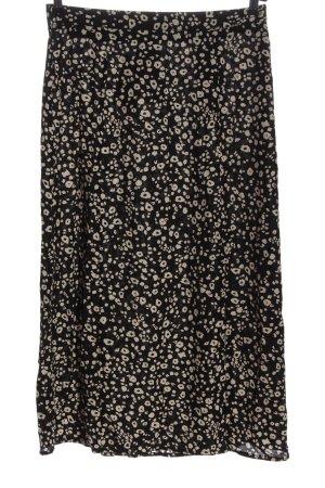 Amisu Spódnica midi czarny-w kolorze białej wełny Na całej powierzchni