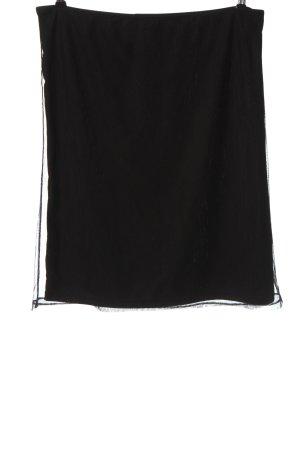 Amisu Spódnica midi czarny W stylu casual