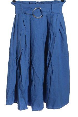 Amisu Spódnica midi niebieski Elegancki