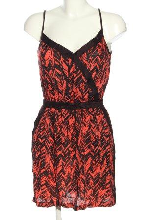 Amisu Sukienka mini czerwony-czarny Na całej powierzchni W stylu casual
