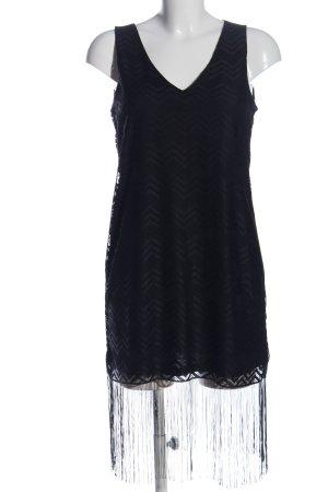 Amisu Minikleid schwarz Allover-Druck Elegant