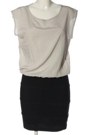 Amisu Minikleid schwarz-wollweiß Business-Look