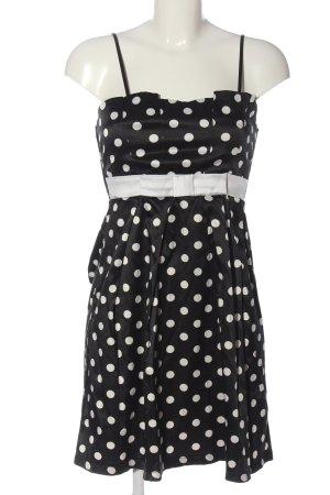 Amisu Minikleid schwarz-weiß Allover-Druck Elegant