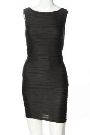Amisu Minikleid schwarz Streifenmuster Casual-Look