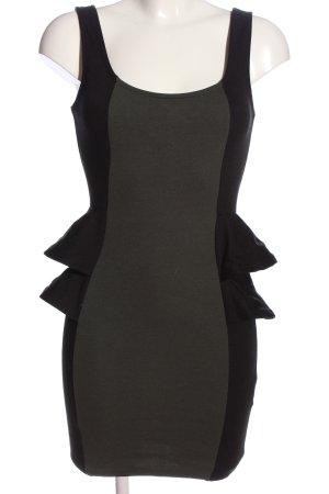 Amisu Mini Dress black-khaki casual look