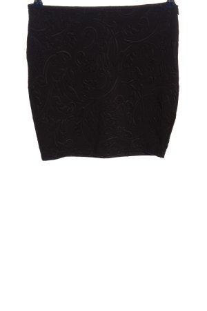 Amisu Minikleid schwarz abstraktes Muster Elegant