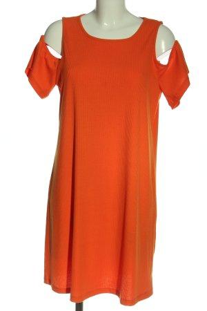 Amisu Sukienka mini czerwony Wzór w paski W stylu casual