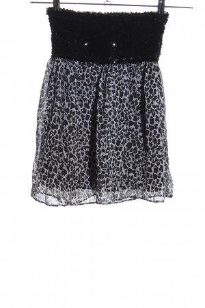 Amisu Mini-jupe noir-gris clair imprimé allover style extravagant