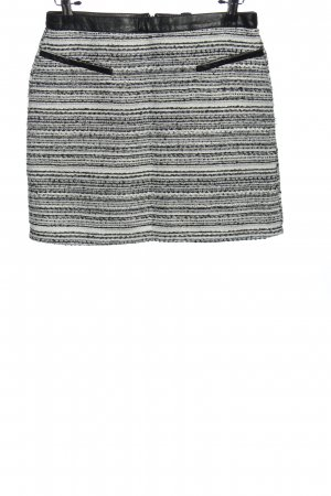 Amisu Minirock schwarz-weiß Streifenmuster Casual-Look