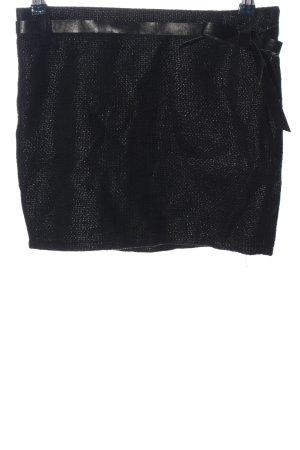 Amisu Minifalda negro look casual
