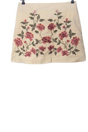 Amisu Minirock Blumenmuster Casual-Look