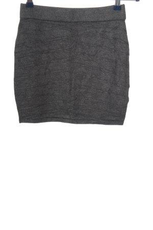 Amisu Spódnica mini jasnoszary Melanżowy W stylu casual