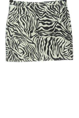 Amisu Minirock schwarz-weiß Allover-Druck Casual-Look