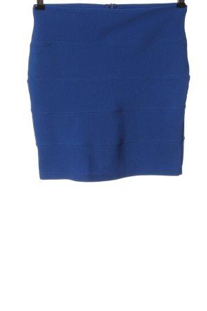 Amisu Minirock blau Streifenmuster Casual-Look