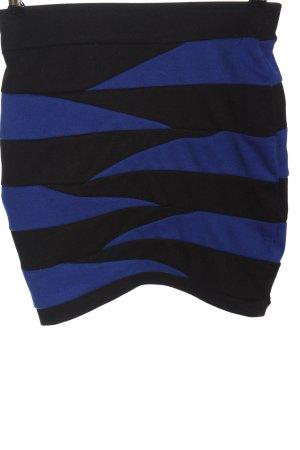 Amisu Miniskirt black-blue allover print casual look