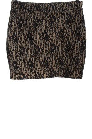 Amisu Minifalda negro-crema elegante