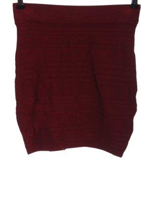 Amisu Minirock rot Streifenmuster Casual-Look