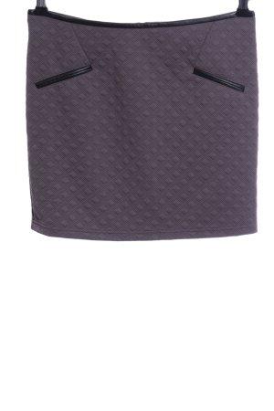 Amisu Minifalda lila-negro estampado repetido sobre toda la superficie