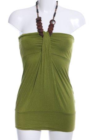 Amisu Halter Top green-brown casual look