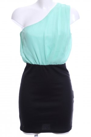 Amisu One Shoulder Dress turquoise-black casual look