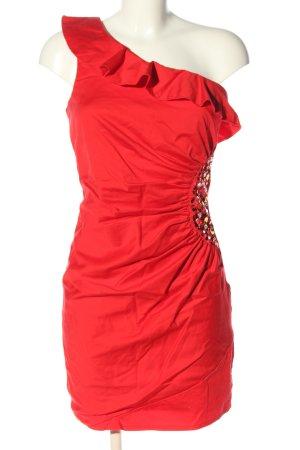 Amisu Robe asymétrique rouge élégant
