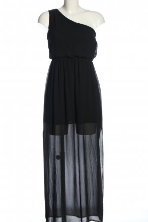 Amisu Eénschouderjurk zwart elegant