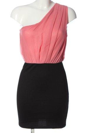 Amisu Robe asymétrique rose-noir élégant