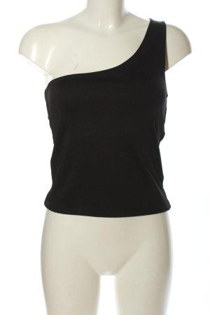 Amisu One-Shoulder-Shirt schwarz Casual-Look