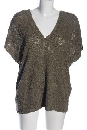 Amisu Sweter oversize khaki Melanżowy W stylu casual