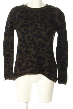 Amisu Oversized Pullover khaki-schwarz Leomuster Casual-Look