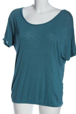 Amisu Oversized Shirt blue flecked casual look