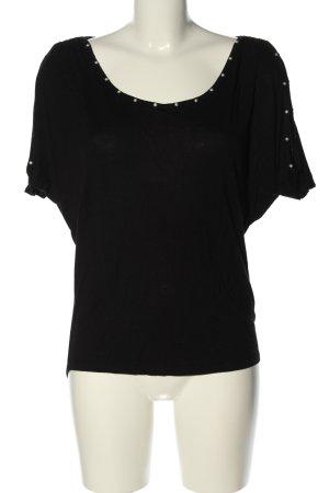 Amisu Camisa holgada negro look casual