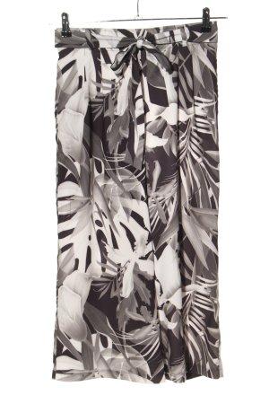 Amisu Pallazzohose schwarz-weiß Allover-Druck Casual-Look