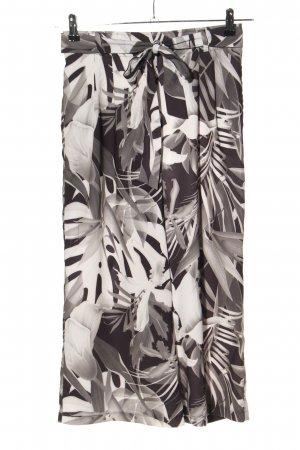 Amisu Pallazzobroek zwart-wit volledige print casual uitstraling