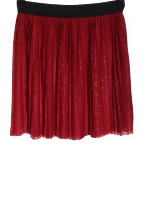 Amisu Geplooide rok rood-zwart casual uitstraling