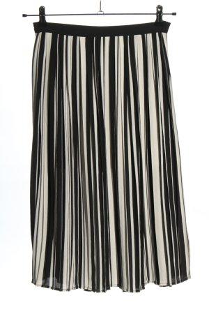 Amisu Falda plisada blanco-negro estampado a rayas look casual