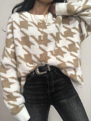 Amisu Wool Sweater white-beige