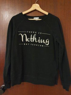 Amisu Kraagloze sweater zwart