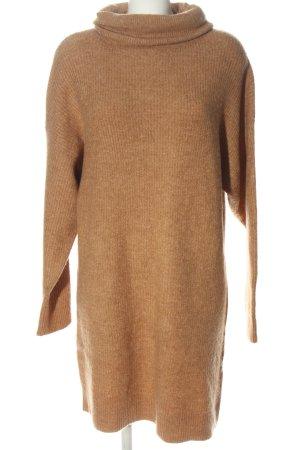 Amisu Vestido tipo jersey marrón moteado look casual
