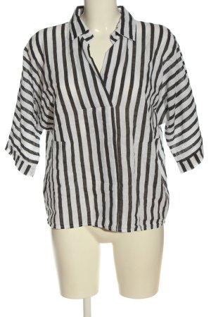 Amisu Koszulka w paski biały-jasnoszary Na całej powierzchni W stylu casual