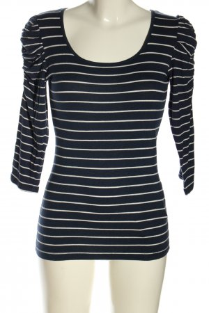 Amisu Stripe Shirt blue-white allover print casual look