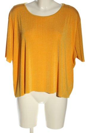 Amisu Prążkowana koszulka jasny pomarańczowy W stylu casual