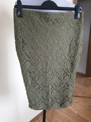 Amisu Miniskirt green grey