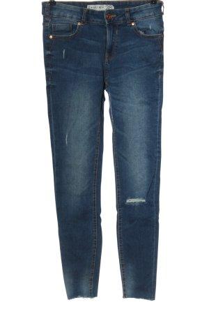 Amisu Jeans cigarette bleu style décontracté