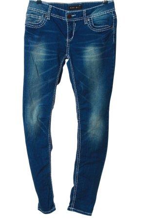 Amisu Röhrenjeans blau Casual-Look