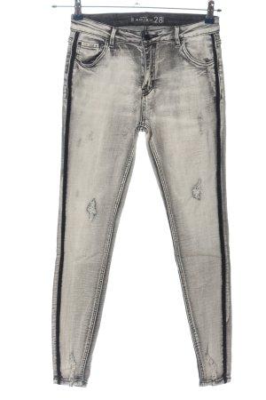Amisu Tube jeans lichtgrijs casual uitstraling