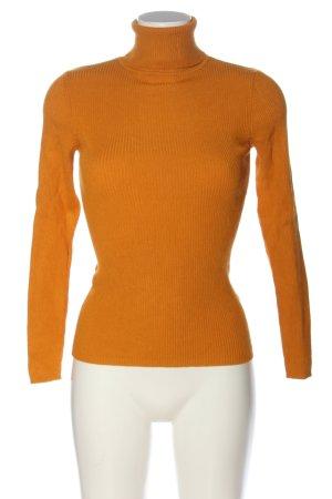 Amisu Pull-over à col roulé orange clair style décontracté