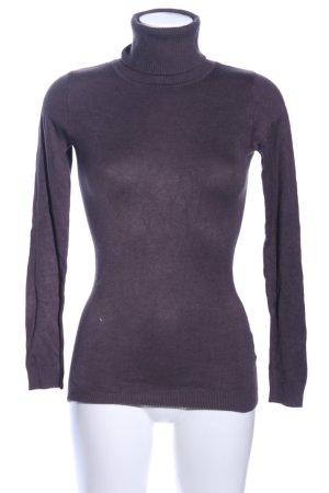Amisu Turtleneck Sweater lilac casual look