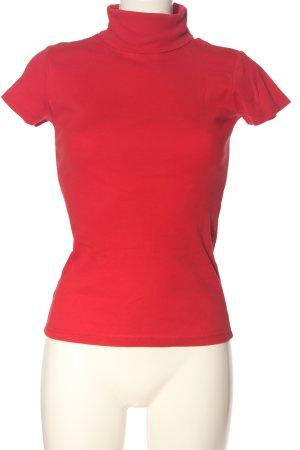 Amisu Maglia a collo alto rosso stile casual